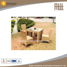 high quality AWRF5081 PE rattan balcony chairs and table from NINGBO supplier 2017 balcony chairs