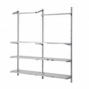 wholesale custom boutique wall system retail shop clothes fitting hanging display rack