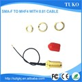 Factory price SMA Female connector to ipex connector 0.81 rf cable assembly