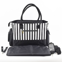 Wholesale Full Printing High Quality Striped Baby Mummy Diaper Bag