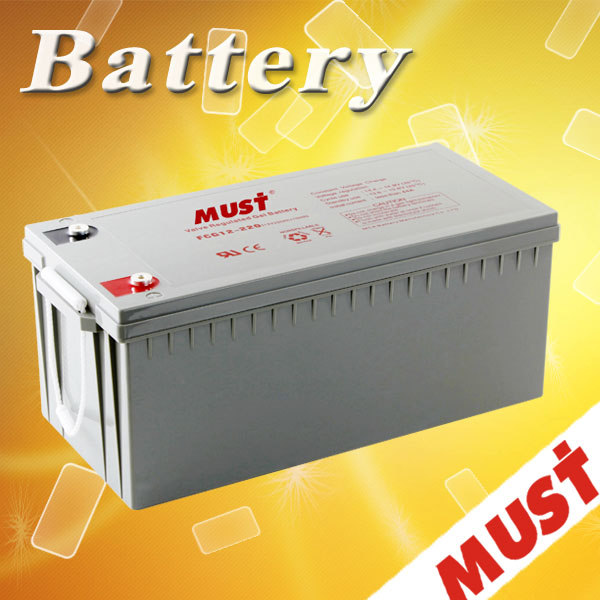 Must Stable Quality & High Reliability Long Life 12 V 200 AH Gel Battery / GEL Free Maintenance Battery