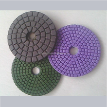 "4""100mm dry/wet diamond hand polishing pads"