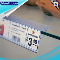 Label Holder Shelf Edge Plastic PVC Supermarket Shelf Price Label Holders for Glass Shelf