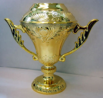 Flower cup for trophy