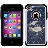Football Line 2 IN 1 Combo Case For iPhone4 4s Smart Cover