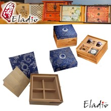 Eladio designer stand up jewelry small wooden box with hinged lid