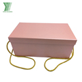 Customized factory cheap colorful cardboard folding packaging paper box with handles
