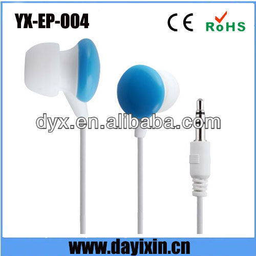 2013 customer design colorful high quality super bass earphones bulk for MP3 and iPod