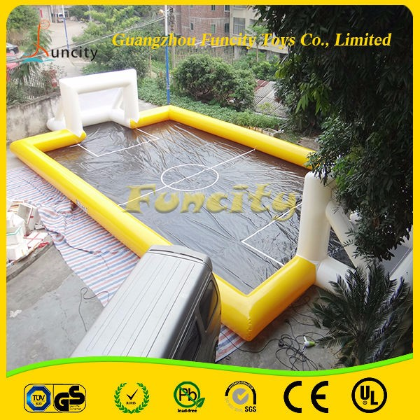 New Style Inflatable Soccer Field/Inflatable Water Soap Football Field For Sale