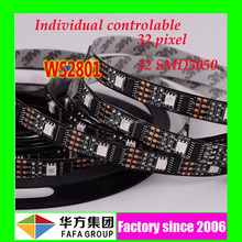 32 pixel 32leds/M individual control high bright 5050 smd rgb led strip ws2801