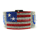 USA flag star magnetic jewelry for the independence day America flag bracelet