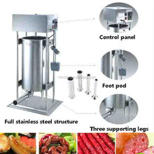 new machine 2017 sausage filler automatic electric commercial used sausage stuffer machine to making sausage