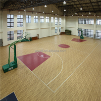 3.5~12.5mm Hot Sale Wood Grain indoor basketball court flooring