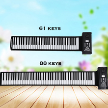 Bora 61 88 keys Silicon electronic Flexible foldable Roll Up Piano keyboard with Loud Speaker