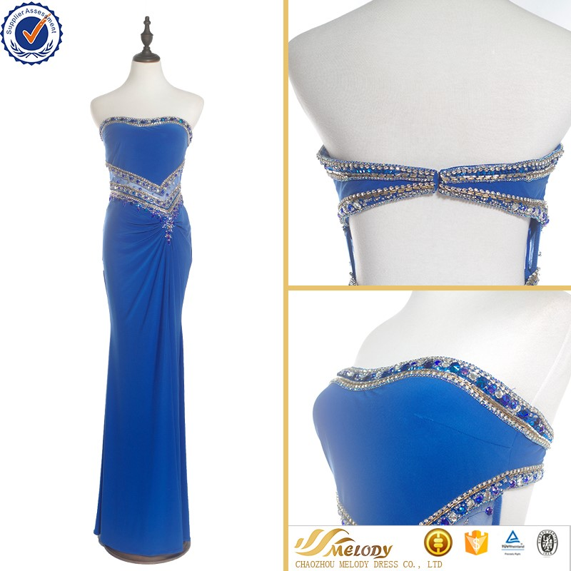 2017 new blue sexy beaded cooktail dress for women online shop