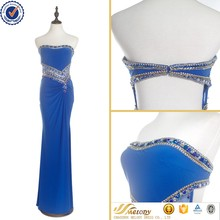 2017 new blue sexy beaded online shop cocktail dress for women