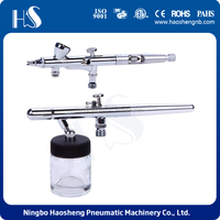 china factory price rohs dual actions airbrush kit with two professional user airbrush