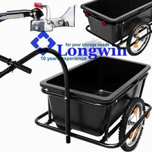 Coupling & Penumatic Tires Cargo Luggage Bicycle Handle Drawbar Bike trailer