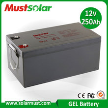 MUST Solar 12V 250Ah Sealed Valve Regulated Gel Battery for Solar Charger