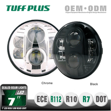 4x4 offroad SAE ECE 7inch high low beam Jeep wrangler led headlight with DOT E13