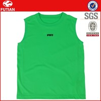 Custom Printed Sleeveless Mesh Sports Shirts / Soccerwear / Basketballwear Top #FT16X018