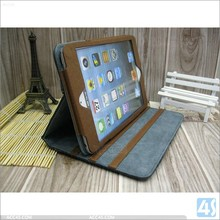 Factory supply price for ipad mini case jeans leather material with card holder pouch