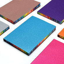 Hot sell notepad creative fashion color leather side of the business notebook custom