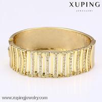 51006-xuping fashion handmade jewelry 14k gold indian wide bangle bracelet