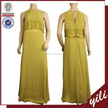 New trendy Sleeveless ladies plain color wholesale new design maxi dresses WD151032803