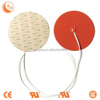 Electric Round heating plate silicone rubber heater silicone rubber sheet