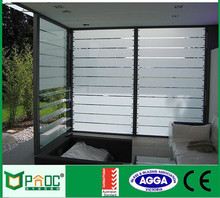 Home and Commercial cheap Aluminum Framed Glass Louver Window