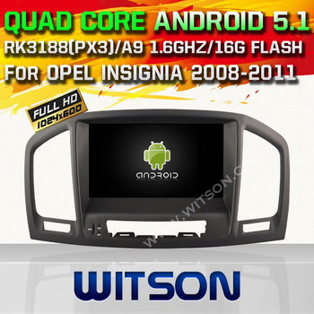 WITSON Android 5.1 CAR DVD For OPEL INSIGNIA 2008-2011 WITH CHIPSET 1080P 16G ROM WIFI 3G INTERNET DVR SUPPORT