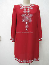 Islamic dress top chiffon red modern classical vintage muslim boutique kebaya