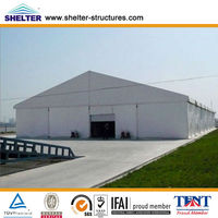 20x30m Waterproof Outdoor A Shape Aluminum PVC Fabric Structure Used Industrial Car Motorcycle Sheds Storage Tents for Sale