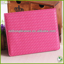 Colorful Woven Pattern Leather case for Ipad 2/3/4
