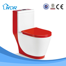 Ceramic red color bathroom one piece toilet price W9074A