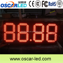 12 inch red color 4 digit gas price all formats 7 segment led display
