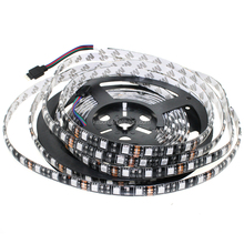 High quality Black PCB board 60led 12v 5050 RGB led strip light