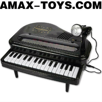 io-6146650 plastic toy piano Children multifunctional piano with a microphone