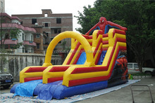 Hot commercial inflatable spiderman slide for sale