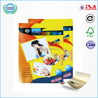 premium super white 180gsm A4 size waterproof digital inkjet high glossy photo paper with factory prices
