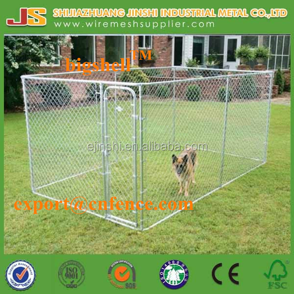 2.3x2.3x1.2m outdoor chain link dog run kennels & dog cages & dog run pet enclosure with the shed