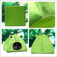 china pet supplies decorative plush animal shaped pet bed cave dog house