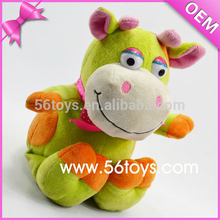 China Factory Funny Toy Big Eye Green Cow Plush Toy