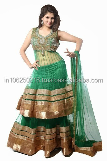 Indian Embroidered Lehenga Choli Bridal Lehenga Wedding Dresses R5566