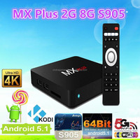 Mx Plus Amlogic S905 2g/8g Quad Core Android Tv Box - Fully Loaded Kodi Smart Tv Box