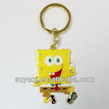 Polish enamel metal jewelry key chain anime