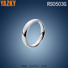 In stock wholesale silver color stainless steel jewelry ring simple blank ring