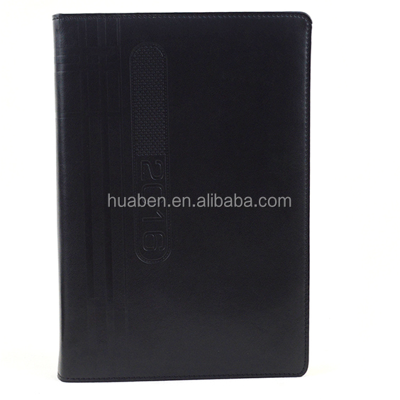 embossed logo school notebook with gilt edge