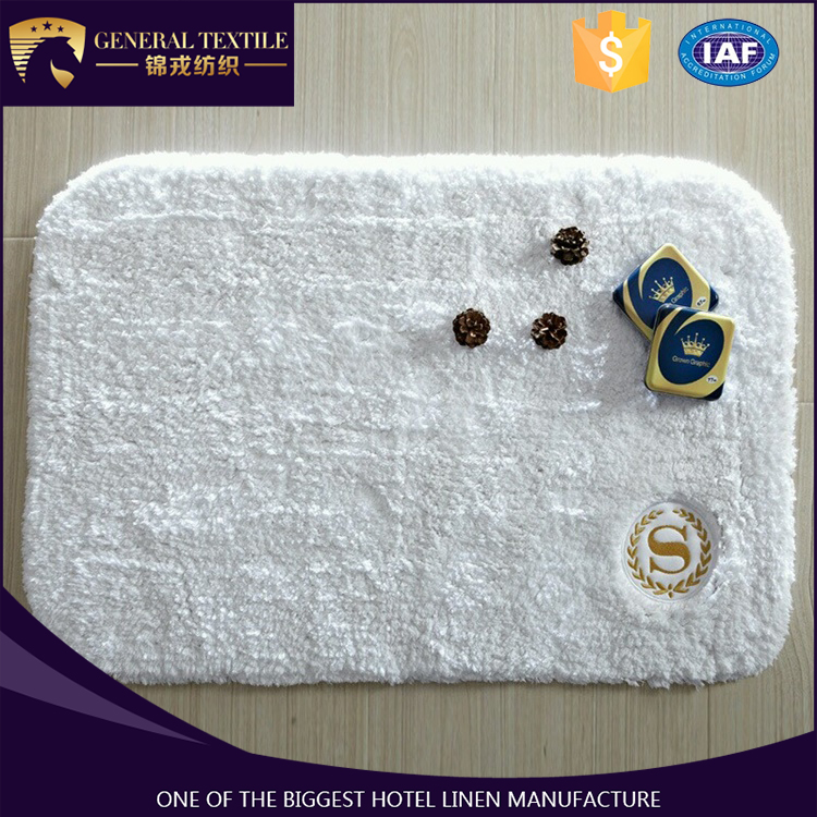 Alibaba china suppliers wholesale non-slip embroidery hotel bath rugs